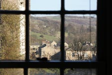 view from window of main bedroom on the first floor of the holiday cottage in reeth