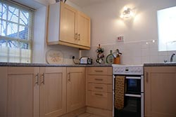 kitchen at the half moon house holiday cottage in reeth